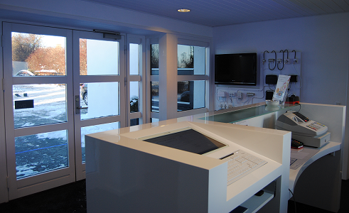 image of front desk from the side
